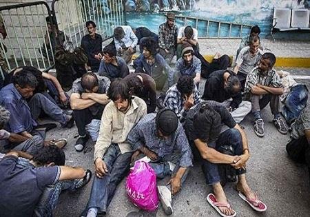 پذیرش معتادان متجاهر در مراکز ترک اعتیاد بهزیستی بر اساس روند قیلی