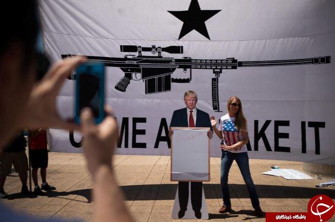 تظاهرات در دالاس در اعتراض به آزادی حمل سلاح+ تصاویر