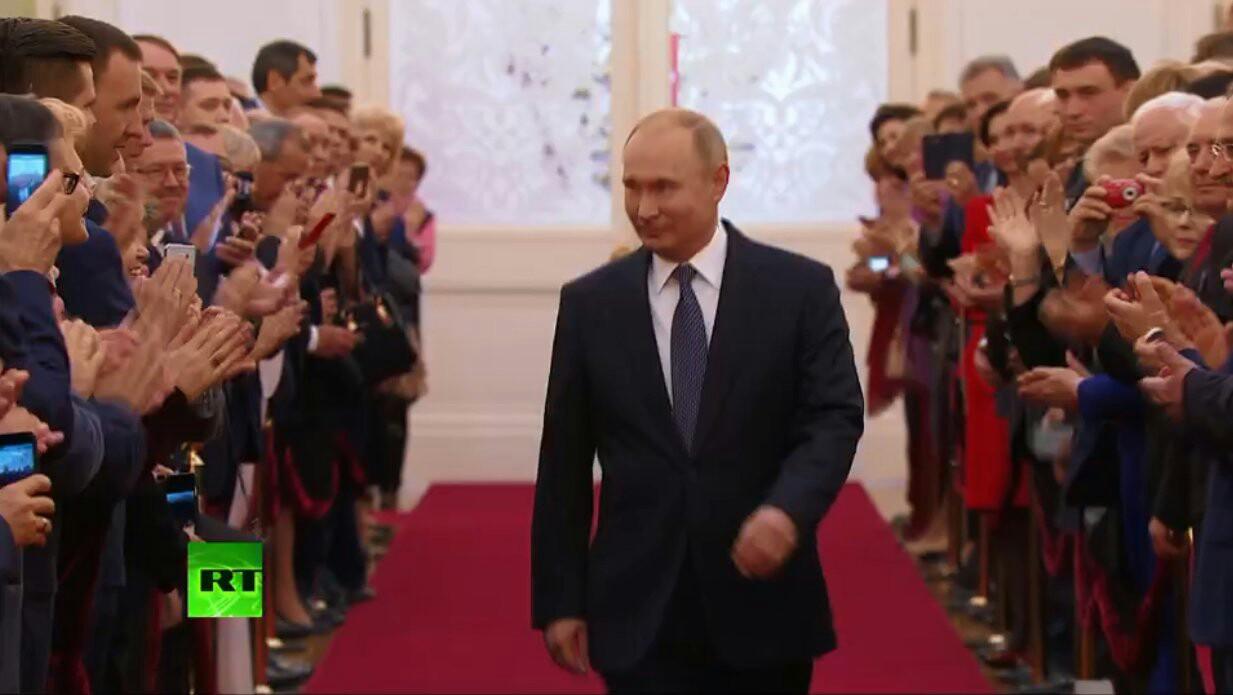 مراسم تحلیف ولادیمیر پوتین آغاز شد