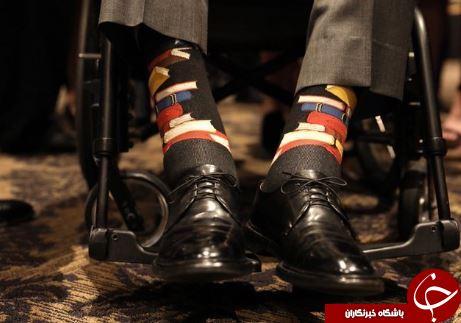 جورابهای عجیب بوشِ پدر در مراسم تدفین همسرش! + تصاویر