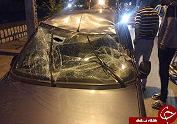باشگاه خبرنگاران -مصدومیت دونفر براثر واژگونی خودرو در زیر پل انقلاب خرم آباد+عکس
