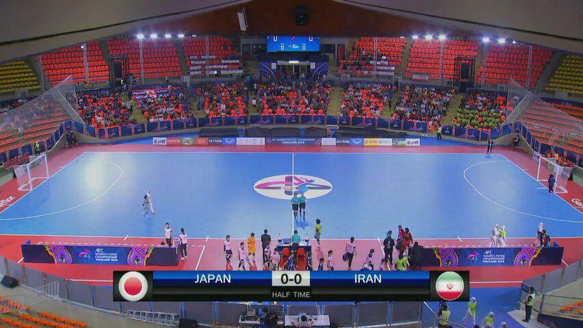 ایران صفر - ژاپن صفر / پایان نیمه نخست