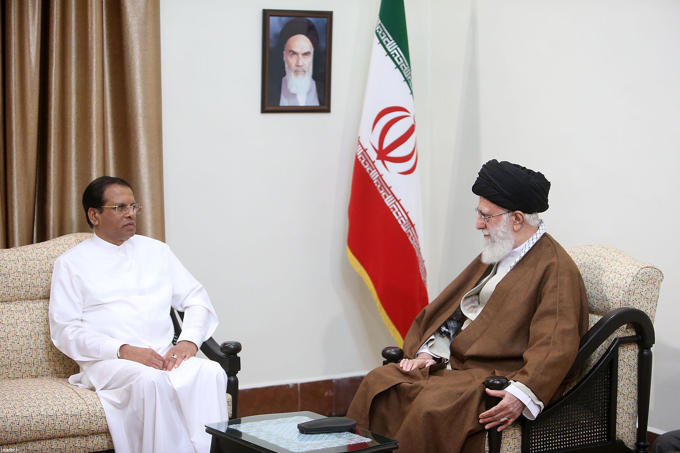 رئیس جمهور سریلانکا با معظم انقلاب دیدار کرد