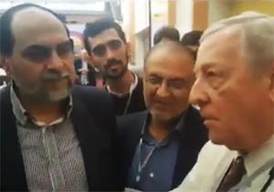 مواجهه رحیم پور ازغدی با مامور سابق CIA در مشهد + فیلم