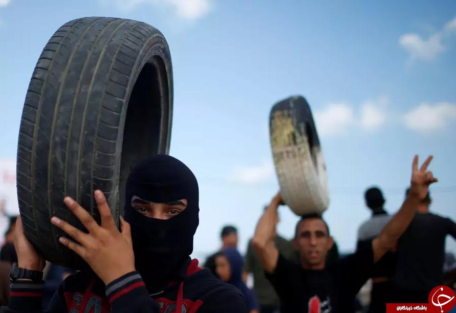 تظاهرات گسترده مردم فلسطین در اعتراض به انتقال سفارت آمریکا به قدس