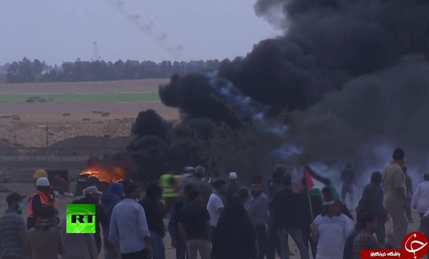 تظاهرات گسترده مردم فلسطین در اعتراض به انتقال سفارت آمریکا به قدس + تصاویر