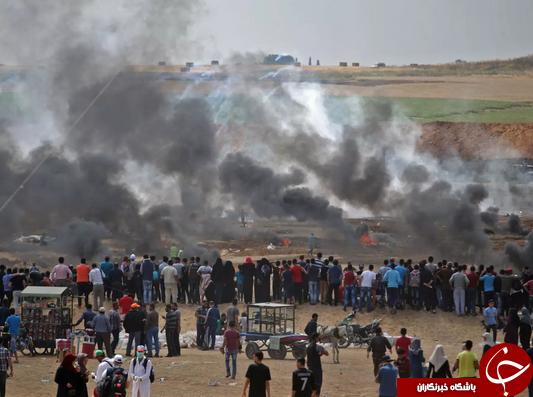 تظاهرات گسترده مردم فلسطین در اعتراض به انتقال سفارت آمریکا به قدس+ تصاویر