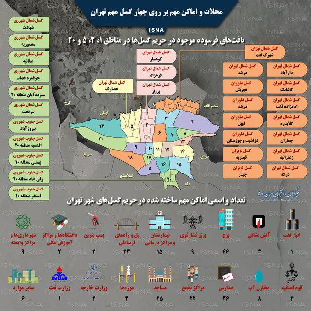 کدام اماکن و محلات تهران بر روی گسلها قرار دارند؟+ اینفوگرافیک