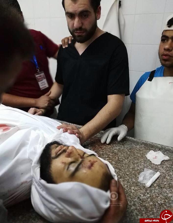 صحنهای تکان دهنده که پزشک فلسطینی را در خود فرو ریخت+تصاویر