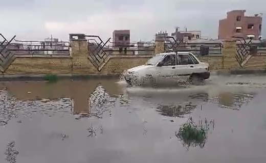 وقتی معابر مسکن مهر در گنبدکاووس دریاچه میشود + فیلم