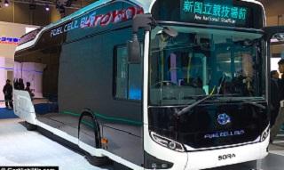 تویوتا تولید اتوبوس هیدروژنی را آغاز کرد + تصاویر