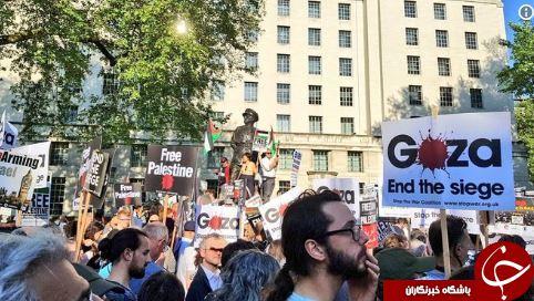 برگزاری تظاهرات در انگلیس در حمایت از مردم مظلوم فلسطین+ تصاویر