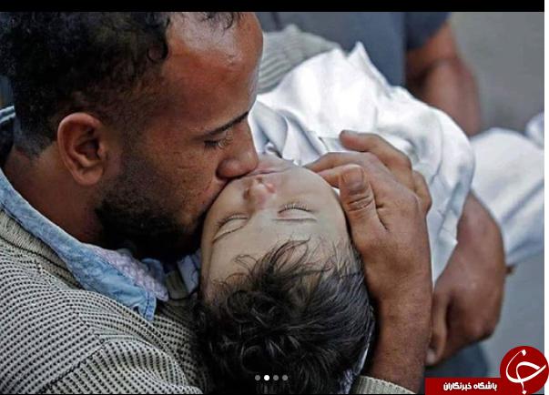همدردی گوینده خبر تلویزیون با مردم فلسطین +عکس