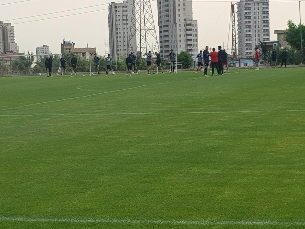 تمرین تیم ملی فوتبال برگزار شد