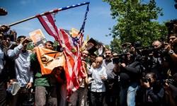 تهرانیها علیه آمریکا و رژیم صهیونیستی تظاهرات خشم برگزار میکنند