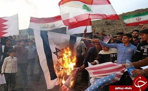اعتراض دانشجویان قم به انتقال سفارت آمریکا به بيت المقدس+تصویر