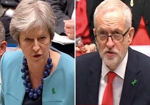 بحث داغ کوربین و می بر سر برکسیت در صحن مجلس عوام انگلیس