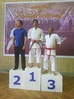 قهرمانی معلم دهدشتی در مسابقات کاراته کشور