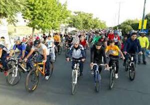 همایش دوچرخهسواری به مناسبت روز ارتباطات