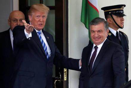 مذاکره روسای جمهور آمریکا و ازبکستان درباره بحران افغانستان