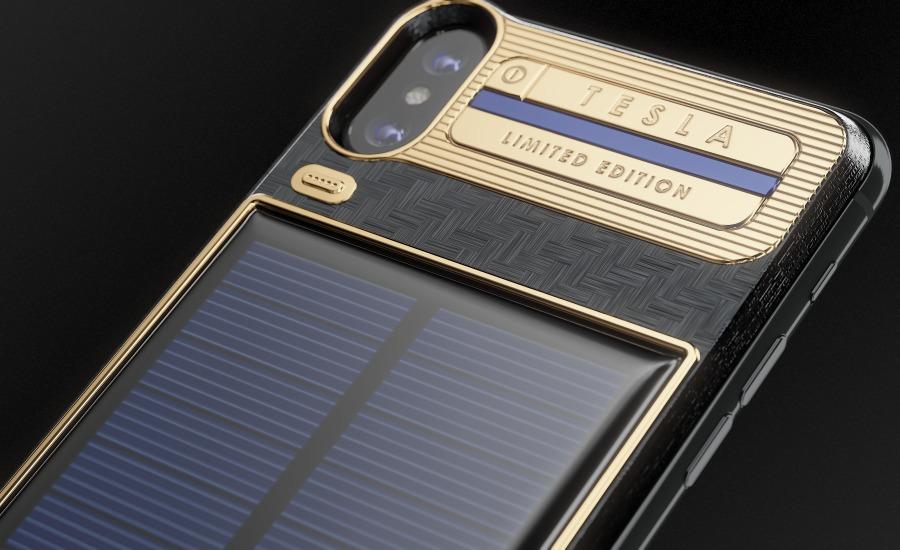 قاب 4800 دلاری آیفون X با قابلیت شارژ خورشیدی