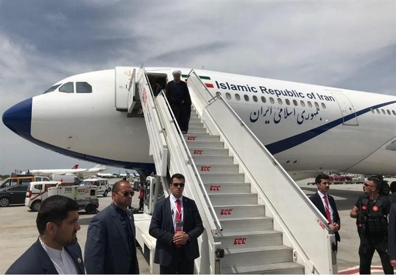 رئیسجمهور وارد ترکیه شد