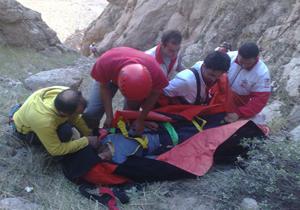نجات کوهنوردی که دچار ایست قلبی شده بود