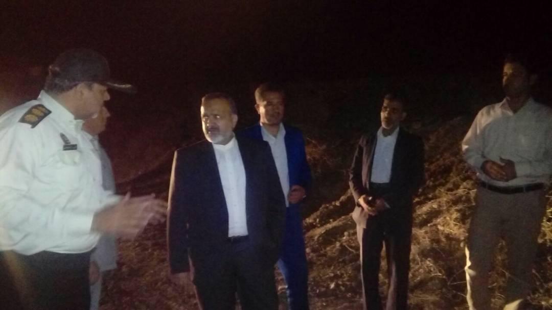 بازدید سرزده استاندار خراسان رضوی از مناطق سیل زده نیشابور