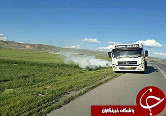 باشگاه خبرنگاران - نشت گاز از سوپاپ اطمینان تانکر حمل گاز مایع در خرم آباد+عکس
