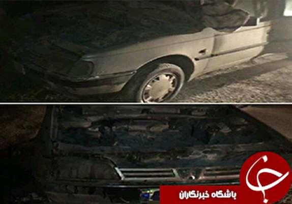 باشگاه خبرنگاران - حریق خودرو پژو ۴۰۵در آزادراه خرم آباد اندیمشک+عکس