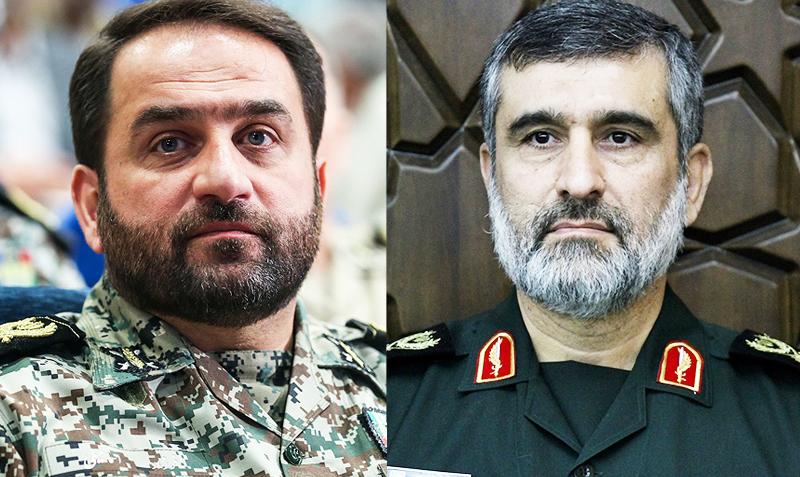 بازدید سردار حاجیزاده و امیر اسماعیلی از منطقه پدافند هوایی تهران