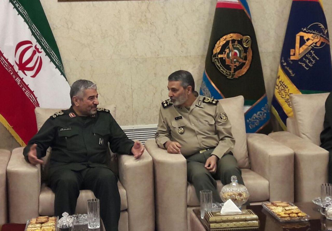 فرمانده کل سپاه پاسداران با فرمانده ارتش دیدار کرد؛