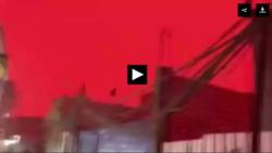 راز قرمز شدن ناگهانی آسمان عراق چه بود؟ +فیلم