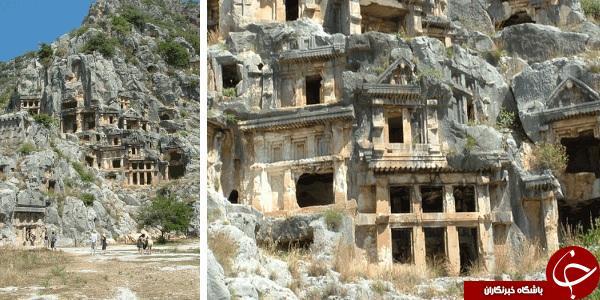 خودنمایی مقبره های سنگی یونانی در ترکیه