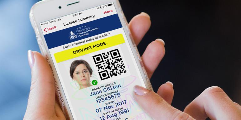 ارائه گواهینامه رانندگی دیجیتال روی تلفن همراه