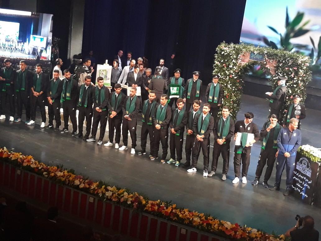 مراسم بدرقه تیم ملی فوتبال کشورمان آغاز شد