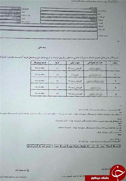 استخدامهای دقیقه نودی ژن خوب در شهرداری حاشیه ساز شد!+ سند
