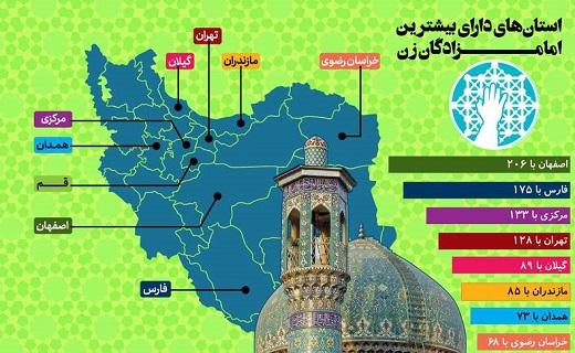 در ایران چند امامزاده زن وجود دارد؟ + اینفوگرافیک