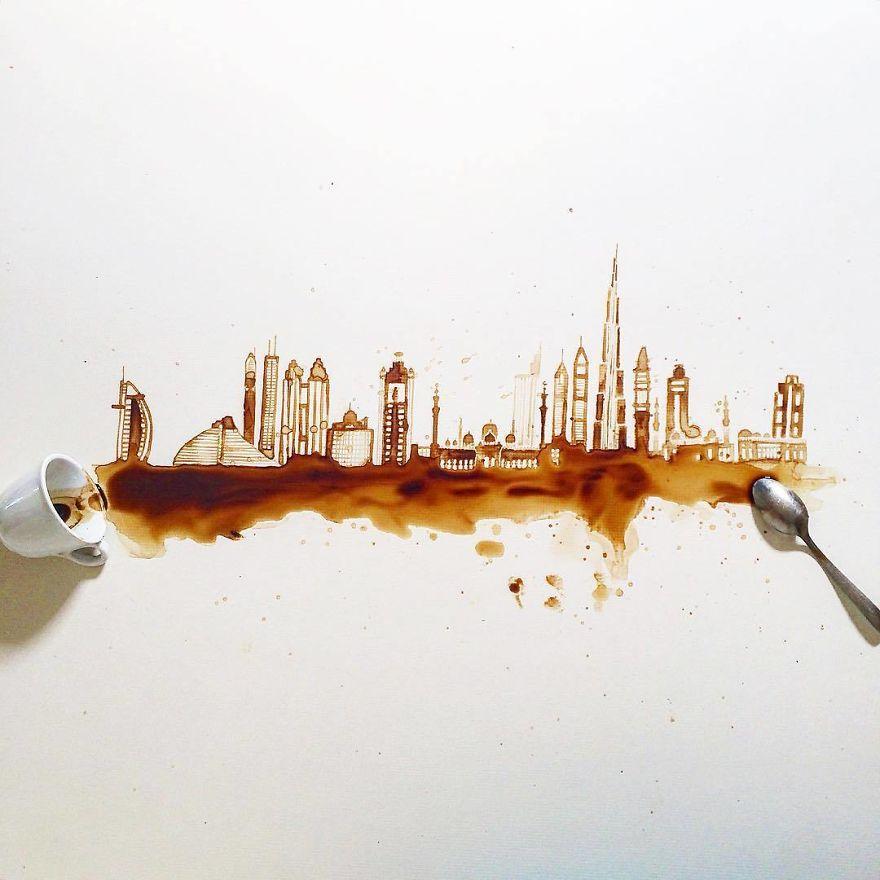 هنرنماییهای فوق العاده با قهوه+ تصاویر