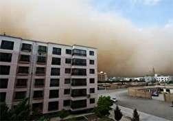 باشگاه خبرنگاران - فیلمی متفاوت از وقوع طوفان شن در چین