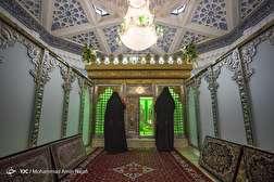 باشگاه خبرنگاران - غبارروبی آستان مقدس امام زاده عبدالله - همدان