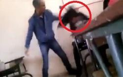ویدئویی تکاندهنده از کتکخوردن دختر دبیرستانی توسط معلم!