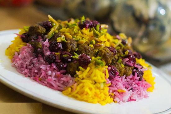 کته آلبالو؛ غذای مجلسی ایرانی