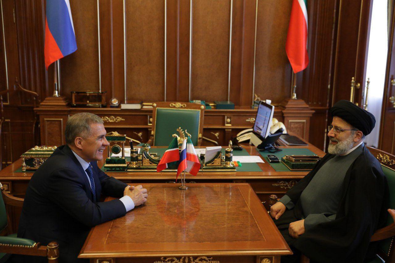 رئیسی در دیدار با رئیسجمهور تاتارستان: همکاری ایران و روسیه در منطقه بسیار موثر است
