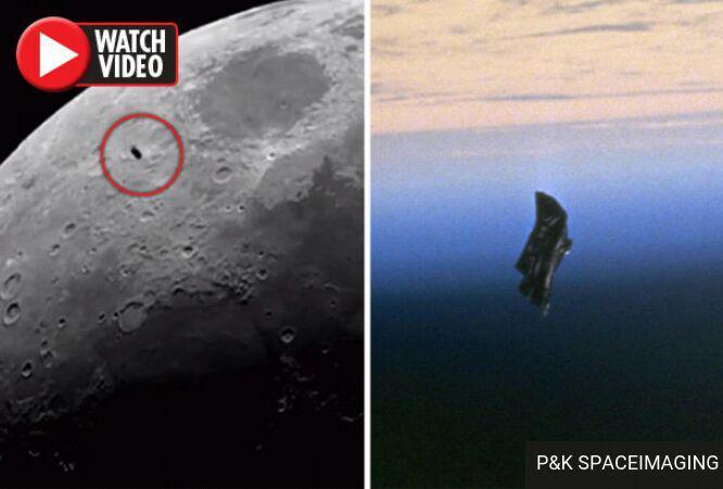 رویت ماهواره جاسوسی فرازمینی ها روی ماه! فیلم