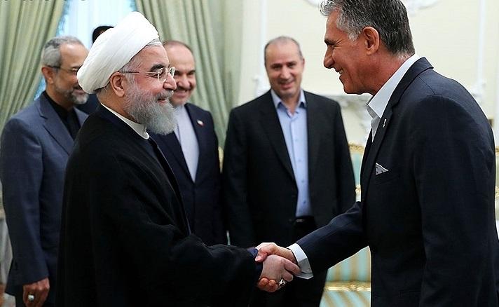 بازتاب دیدار روحانی و تیم ملی فوتبال در روسیه