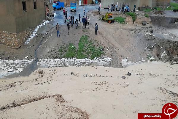 بارش شدید باران و تگرگ در شهرستان چاراویماق