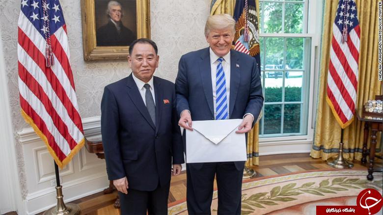 ترامپ نامه کیم جونگ اون را نخوانده «خوب» توصیف کرد+ عکس
