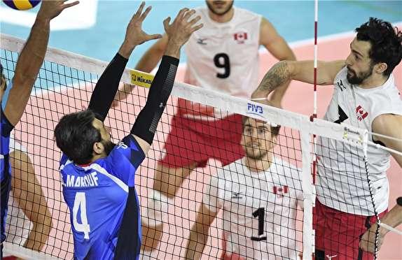 کانادا 1 - 0 ایران / گزارش لحظه به لحظه دیدار والیبال ایران و کانادا