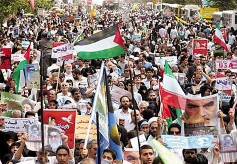 راهپیمایی روز قدس همزمان با سراسر کشور در تهران آغاز شد